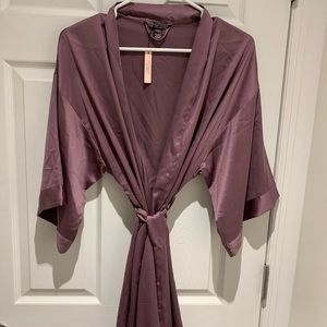Victoria Secret Silk Purple Robe NWT